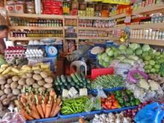 Sleeping Vegetable Vendor at Coron Public Market