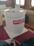Freshly Painted Generator Water Lift Muffler