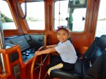 Luisa at the Helm