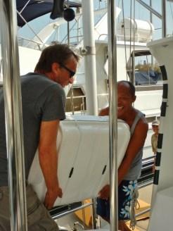 Getting Liferaft Onboard