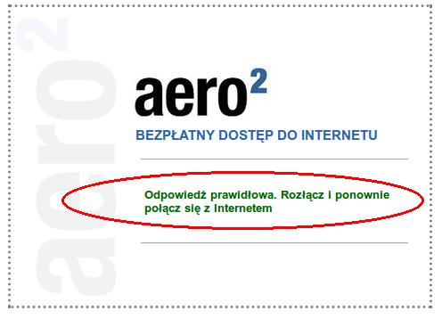 Napis Aero2 CAPTCHA po zmianach