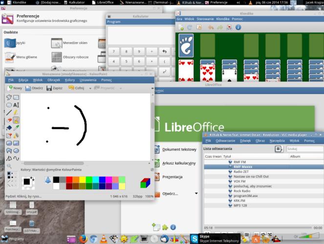Linux Ubuntu Xfce zrzut ekranu