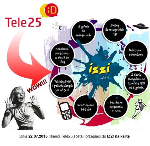 Klienci Tele25 zostali wczoraj przeniesieni do izzi