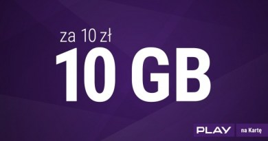 Play 10 zł za 10 GB
