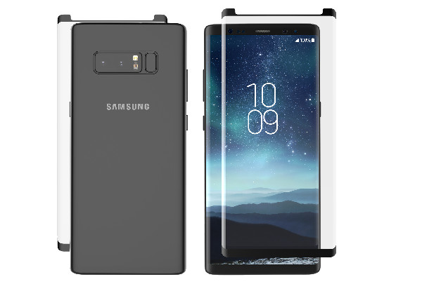 Samsung Galaxy Note8 ze szkłem InvisibleShield Glass Contour