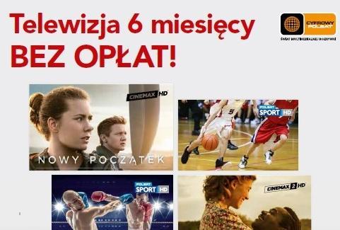 Nowa oferta telewizyjna w Cyfrowym Polsacie – do 6 miesięcy bez opłat