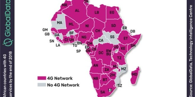 Close to 80% of African Countries to Offer 4G Services by EOY 2018, says GlobalData – The Fast Mode (press release) (blog)