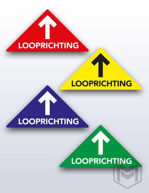 Vloerstickers looprichting