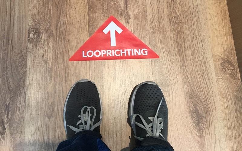 looprichting in de 1,5 meter samenleving