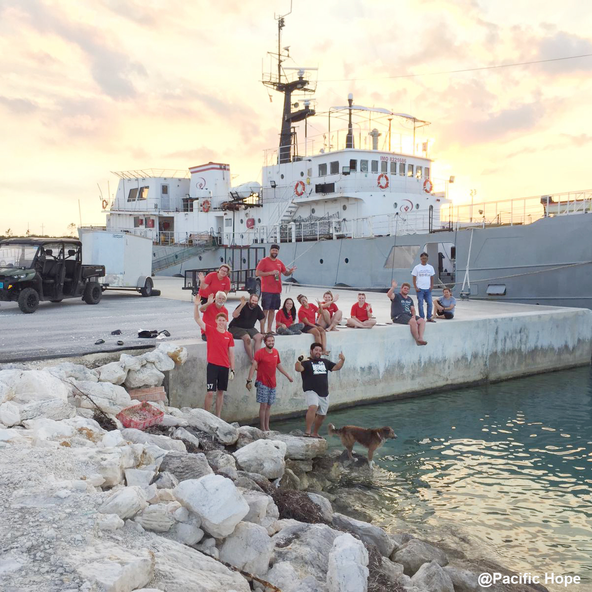 Pacific Hope crew ready to serve the Abaco Islands during COVID-19 crisis