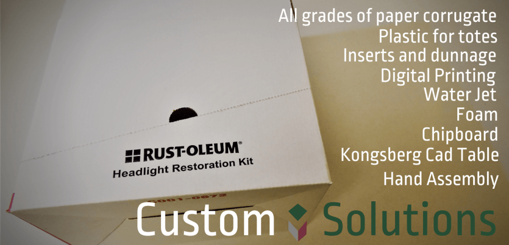 A Custom Rustoleum box featuring a list of our capabilities.