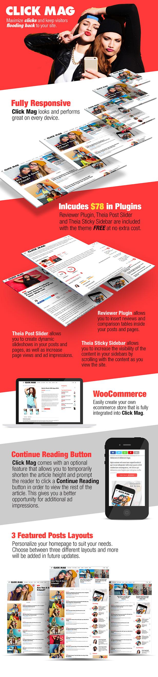 Click Mag - Viral WordPress News Magazine/Blog Theme - 1