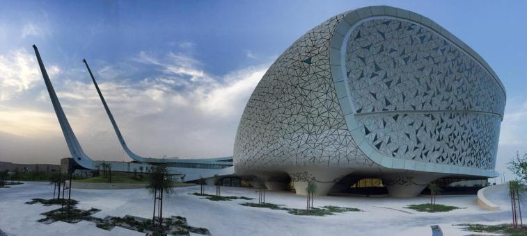 Wow this new mosque in qatar looks like an airplaine mvslim