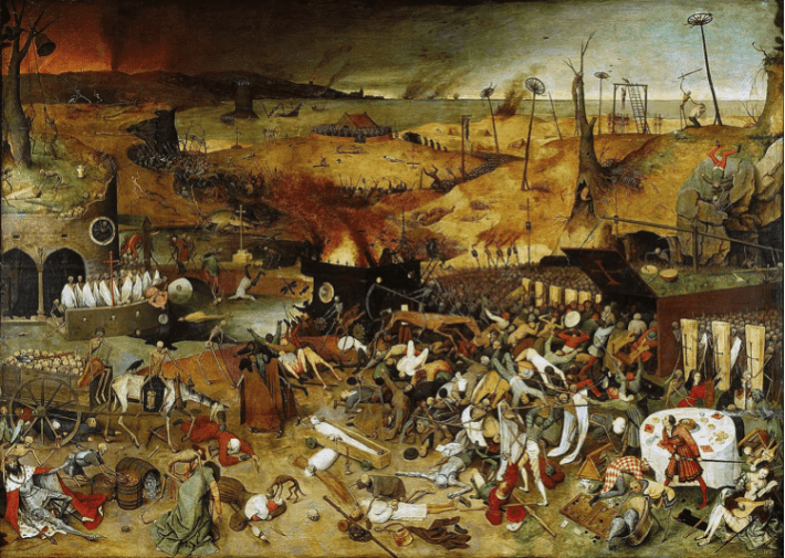 'The triumph of death' is one of the most famous paintings associated with the Dark Ages.
