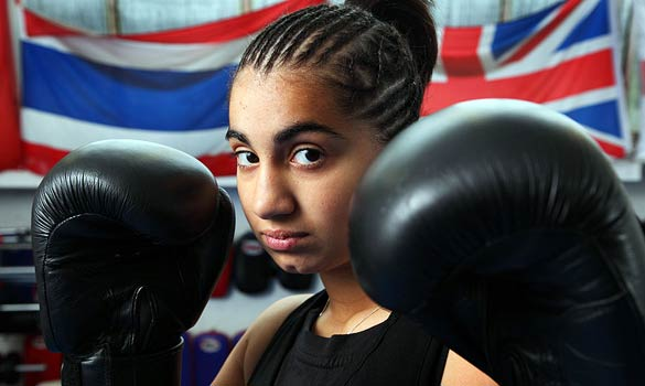 A 15-year-old Ambreen Sadiq, ready to fight prejudice and racism.