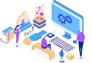 Illustration depicting Website Administration Services.