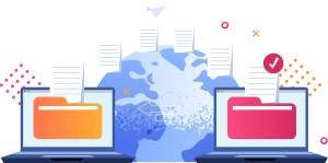 Illustration depicting Website Transfer Services.