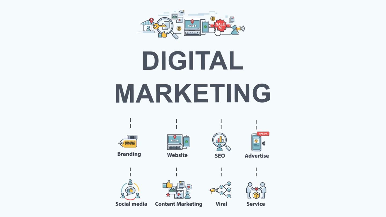 Illustration. Digital Marketing workflow.