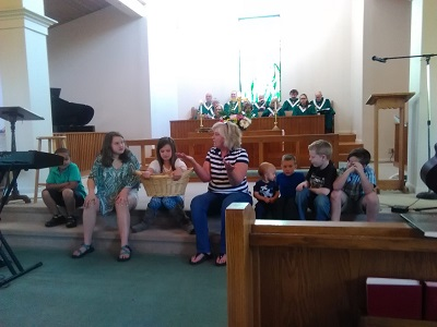 Children's Time during Worship Service