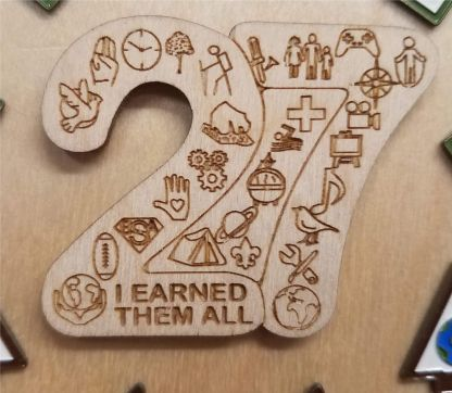 I Earned Them All; Wooden 27 Patch