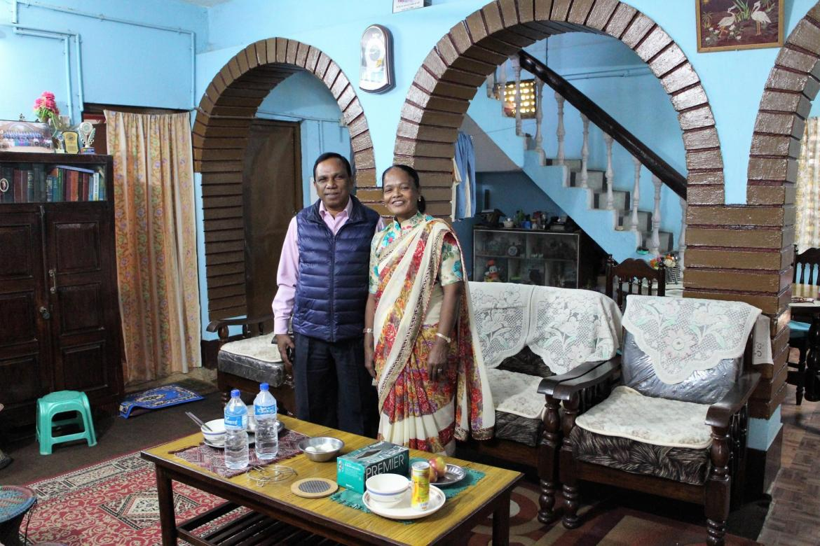 Hanna Soren of the Brethren in Christ Church in Nepal and the Brethren in Community Welfare Society and her husband Shemlal Hembrom. Photo: Henk Stenvers.