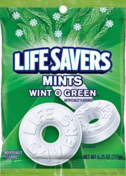 LIVESAVERS WINT-O-GREEN HARD CANDY 6.25 OZ BAG