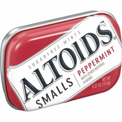 ALTOIDS SMALLS PEPPERMINT .37 OZ TIN