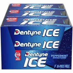 DENTYNE PEPPERMINT ICE GUM 16 PC
