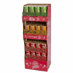 PRINGLES SHIPPER GRAB AND GO ORIG, CHED, SOUR CREAM