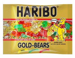 HARIBO GOLD GUMMI BEARS 2 OZ BAG