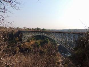 Vista del puente desde Zambia.