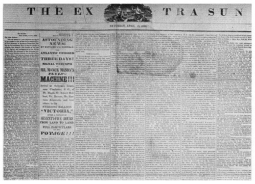 1844_Sun_newspaper_story