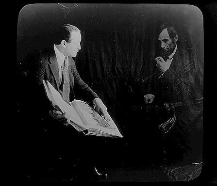 Houdini and the ghost of Abraham Lincoln. 1920.