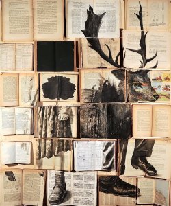 http://www.thisiscolossal.com/2015/01/twilights-new-ink-paintings-on-vintage-books-by-ekaterina-panikanova/