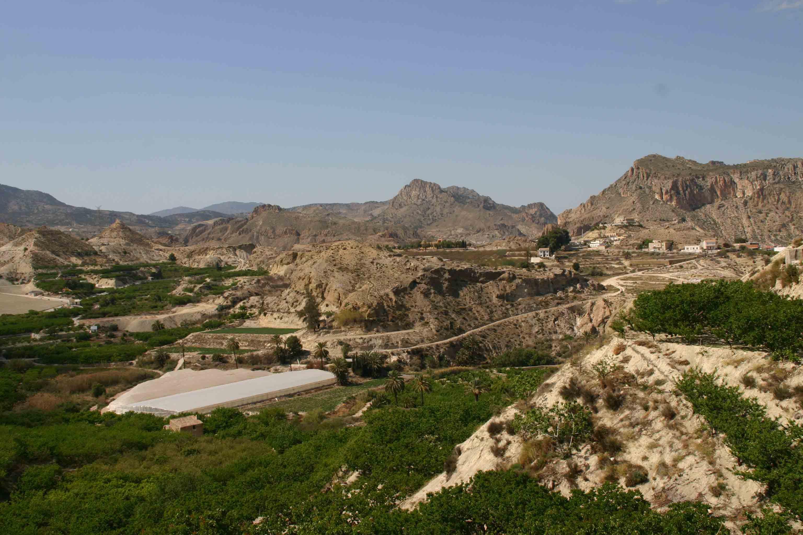 Barren landscape close to the town of Archena