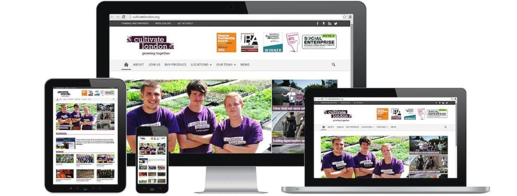 Cultivate London Website Portfolio Multiple Devices