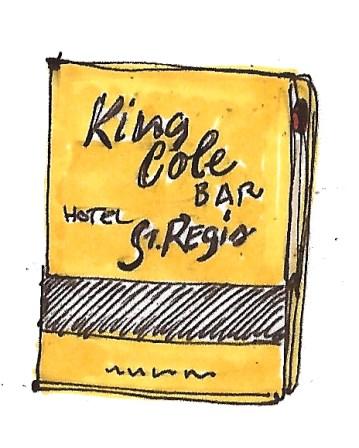 citysketch NY architecture st regis king cole bar matchbook