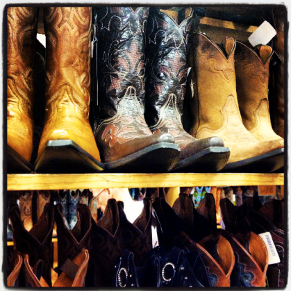stocking up on our boots