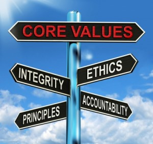 Values provide a sense of of purpose  and meaning