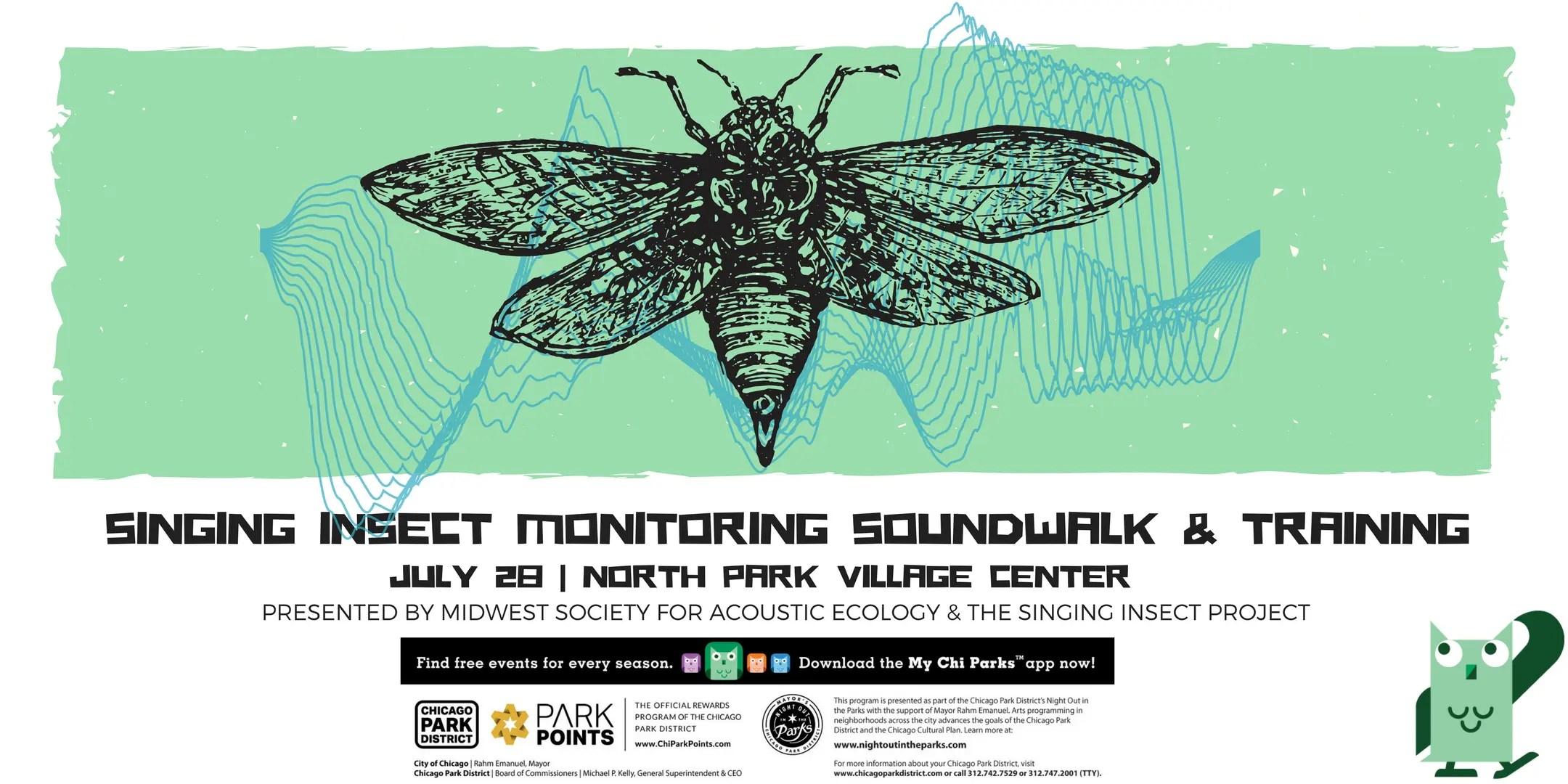 Singing Insect Monitoring Soundwalk & Training – Fri., July 28