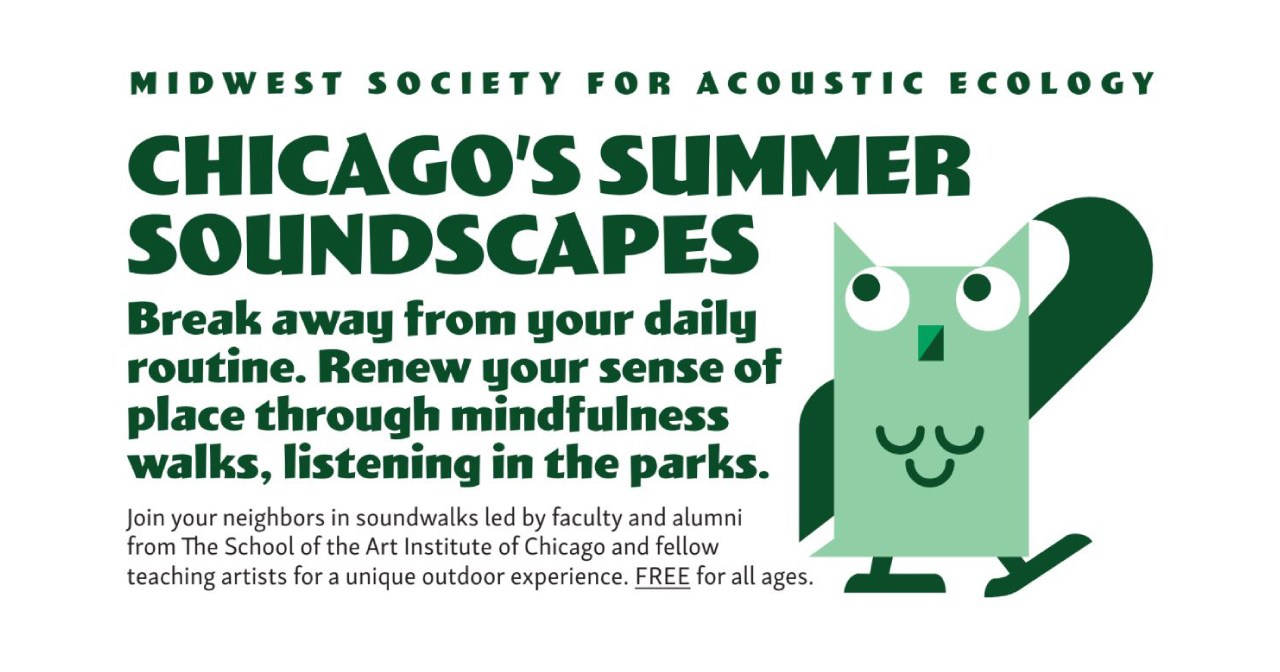 MSAE Summer Soundwalks 2019