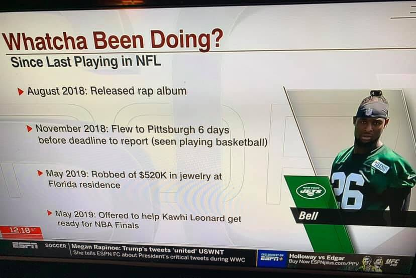ESPN Graphic Exposes Le'Veon Bell for Being Focused on