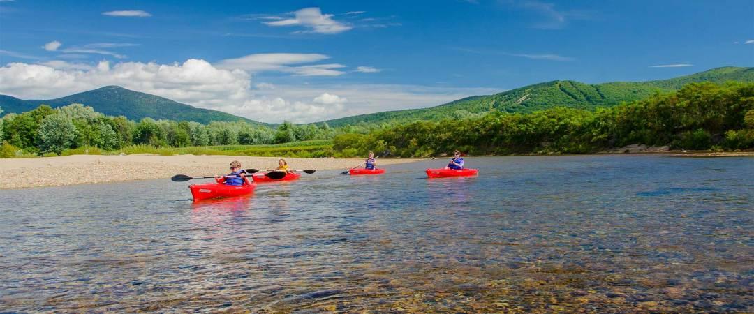 Saco River, North Conway, Mt Washington Valley, paddling Saco River,