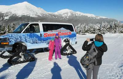 Mt Washington SnowCoach scenic winter topurs