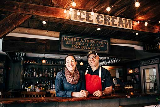 Jeff and Kate Fournier of Thompson House Eatery, Photo by Cait Bourgault