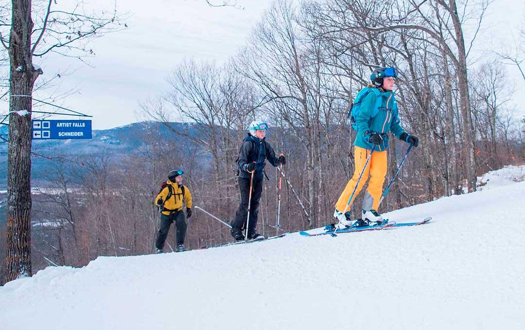 uphill skiing at cranmore