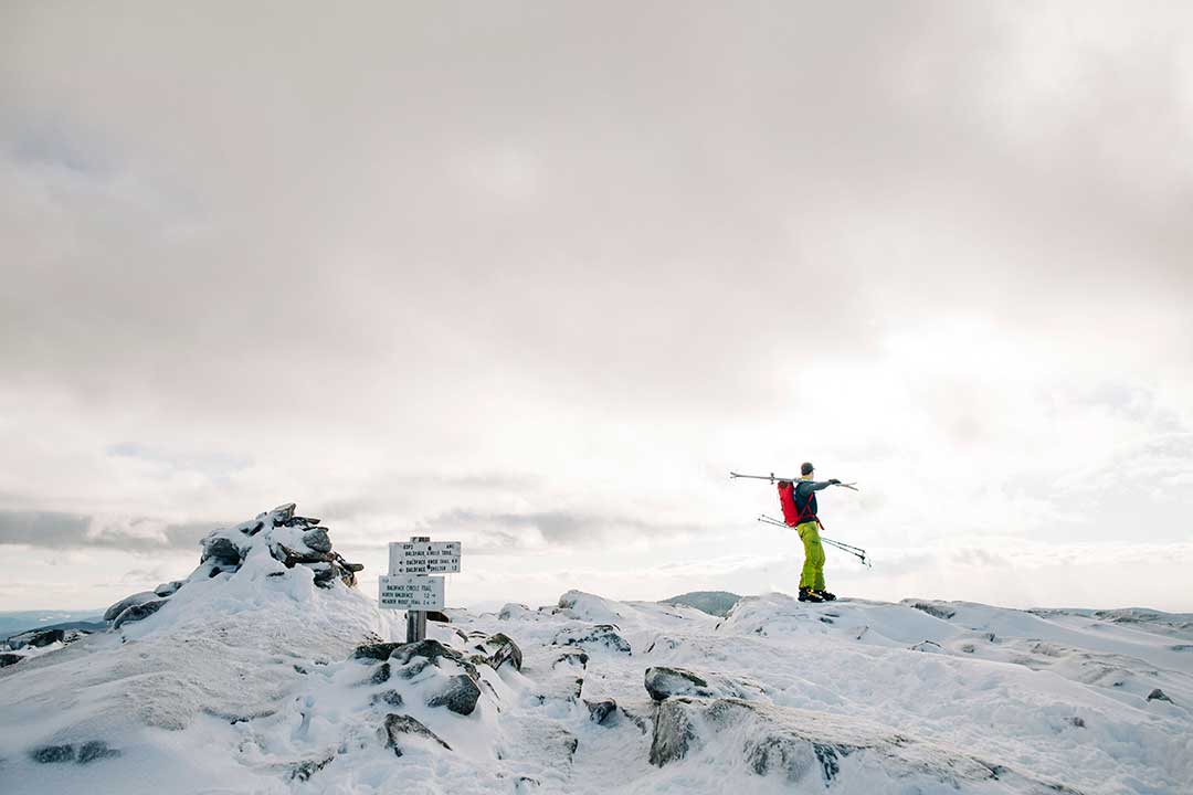 backcountry skiers on Baldface
