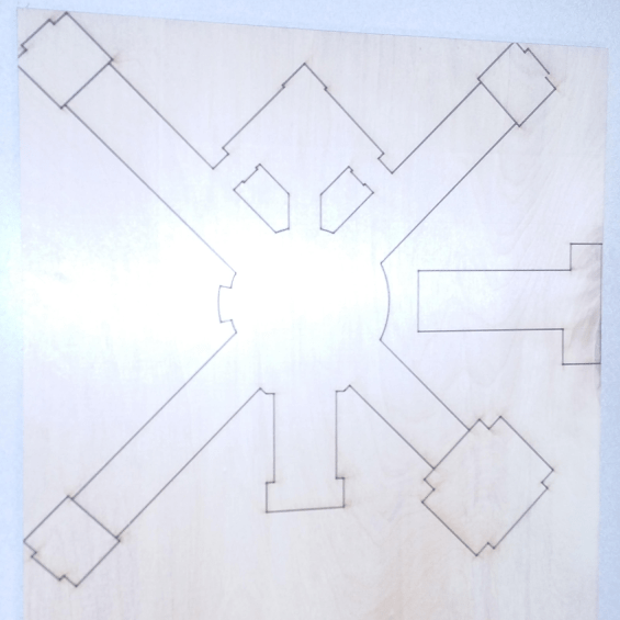2-D Laser-cut Model of our School