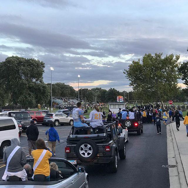 Homecoming Parade Before the Big Game