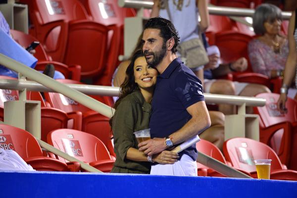 Eva Longoria y Pepe Bastón, el amor que brilla en el Abierto Mexicano de Tenis